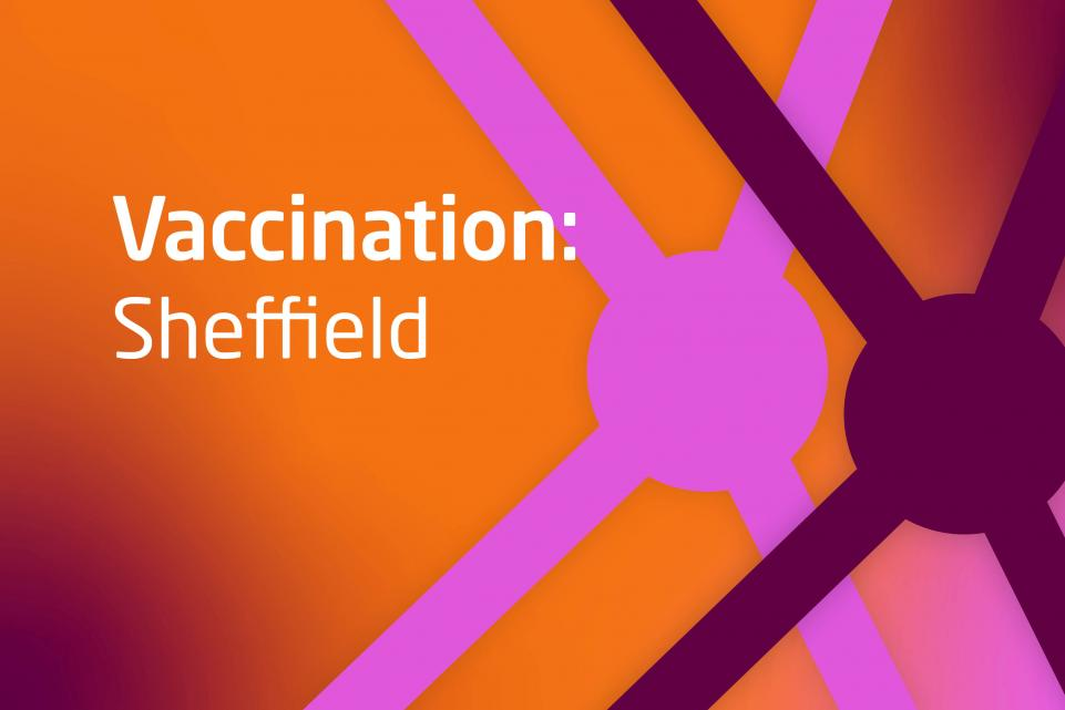 Graphic with text Vaccination:Sheffield