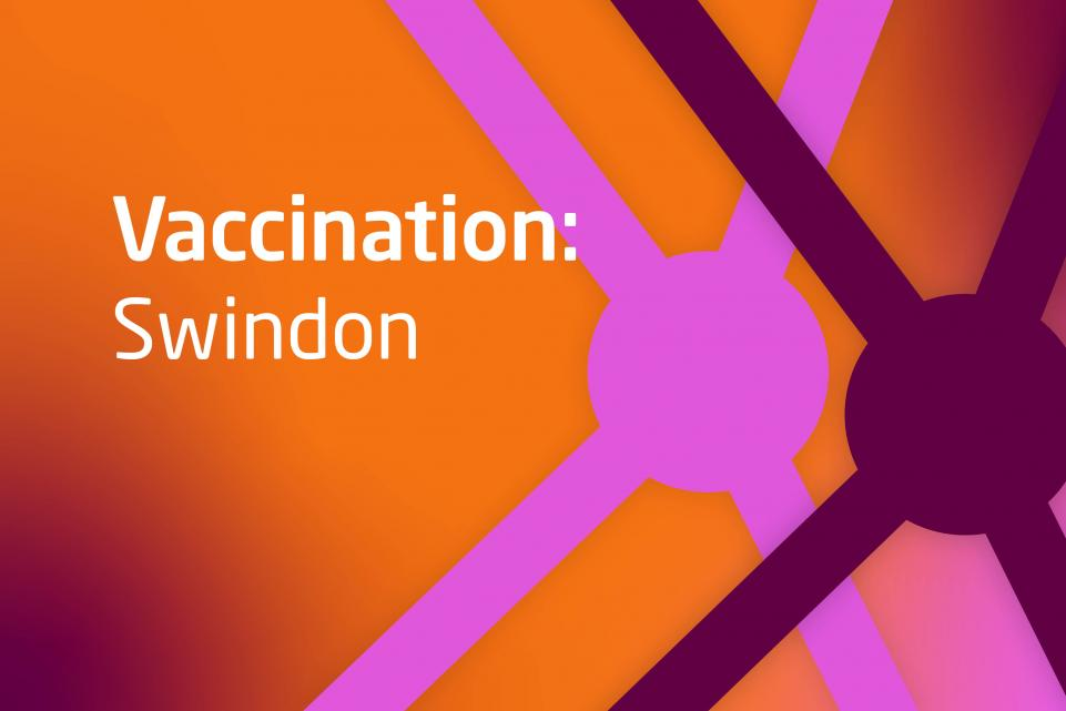 Decorative image with text Vaccination Swindon