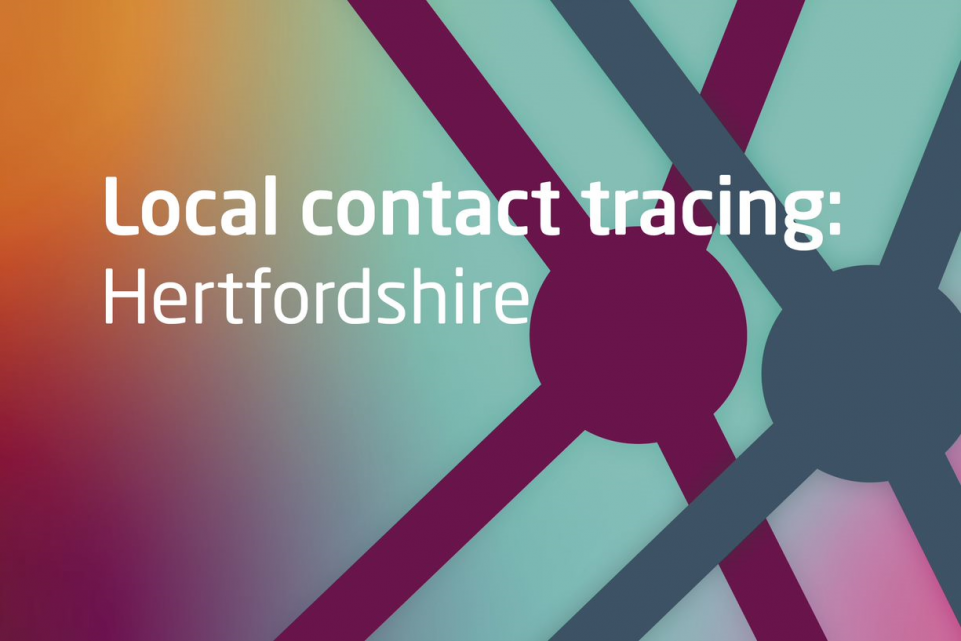 Text: local contact tracing: Hertfordshire